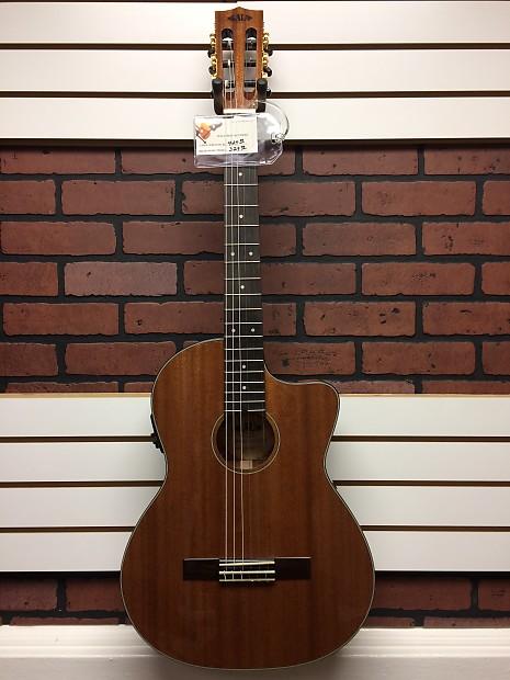 kala thinline acoustic electric nylon string guitar mahogany reverb. Black Bedroom Furniture Sets. Home Design Ideas