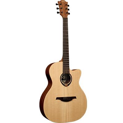 LAG T70ACE Auditorium Sitka Spruce Top Electro Acoustic Cutaway Guitar for sale