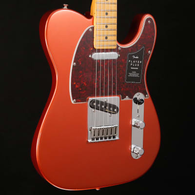 Fender Player Plus Telecaster, Maple Fingerboard, Aged Candy Apple Red 105 8lbs 4.7oz