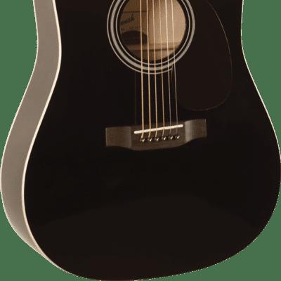 Savannah SGD-12-BK Dreadnought Acoustic Guitar Black Color for sale
