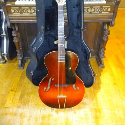 Antique 1930's (mid) Carl Fischer Imperial Archtop Guitar + Hidden Pickup + Hardcase for sale