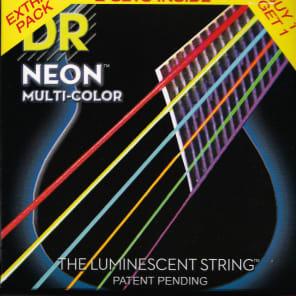 DR NMCA-2/11 Hi-Def Neon Acoustic Guitar Strings - Medium Light (11-50), Pack of 2