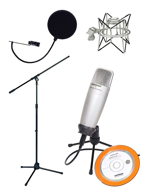 Samson C01U Pak USB Mic Recording/Podcasting Pack w/ Case