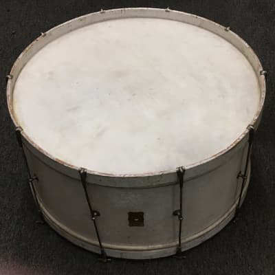 Joseph Rogers Junior and son Daisy Brand professional marching drum 1930s White