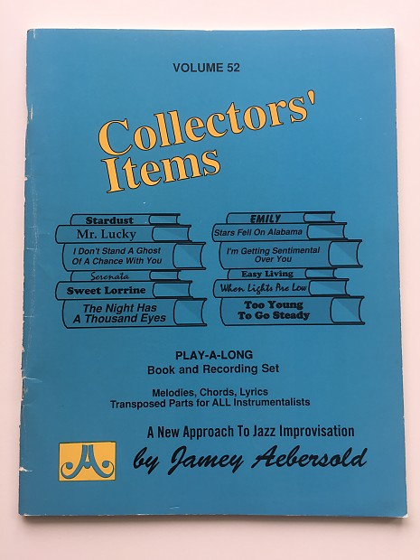 Jamey Aebersold Collectors Items Vol 52 Play A Long Reverb