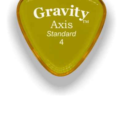 Gravity Picks Axis Standard 1mm Yellow Acrylic <GAXS4P>