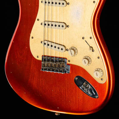 Fender Custom Shop LTD Big Head Strat Journeyman Relic Faded Aged Candy Apple Red - CZ541826-7.93 lbs for sale