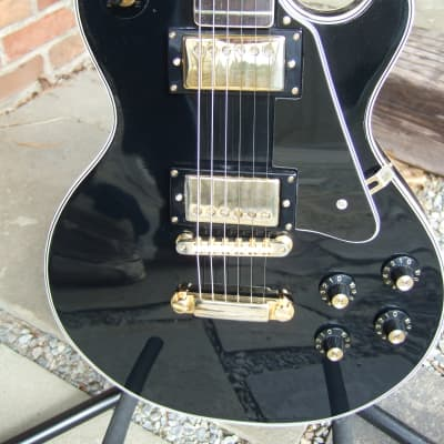 Electra Single Cut 1970's Black with Gold Hardware Made in Japan for sale