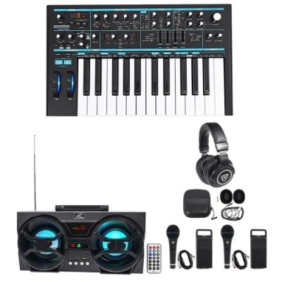 Novation BASS STATION II 25-Key MIDI USB Keyboard Synth+Headphones+Mics+Speaker