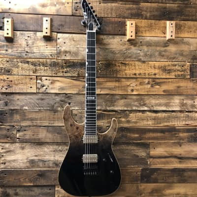 ESP E-II M-II NT Guitar, Black Natural Fade, Buckeye Burl Maple Top, Bare Knuckle Pickups Free Case