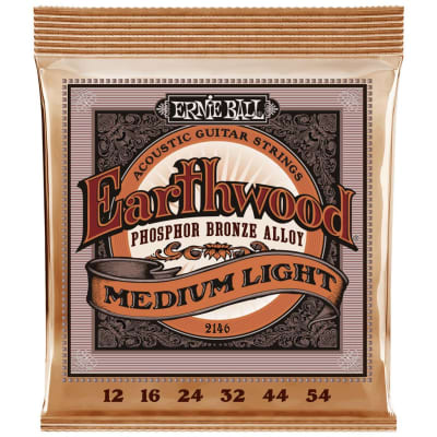 Ernie Ball Earthwood Phosphor Bronze Acoustic Guitar Strings - Medium Light (12-54)