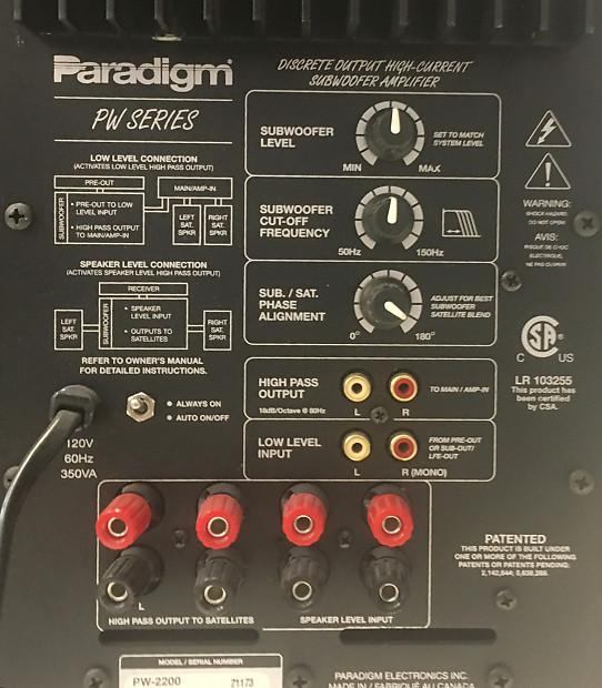 Paradigm Subwoofer PW-2200 | GCPawn