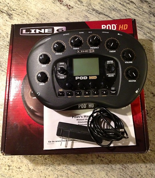 Line 6 POD HD Desktop - Box, Manual, Adapter!