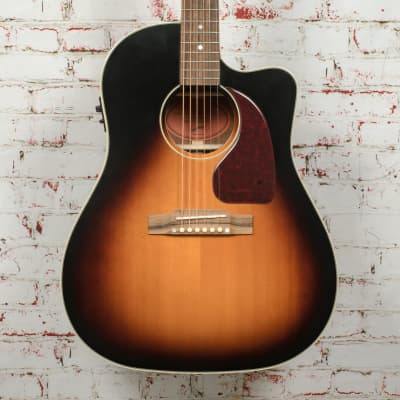 Epiphone Inspired By Gibson J-45 EC Aged Vintage Sunburst Gloss Acoustic Guitar x6650 for sale