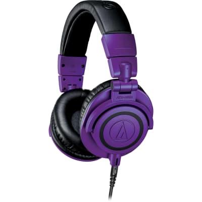 Audio-Technica ATH-M50XPB Professional Monitor Headphones - Limited Edition Purple & Black
