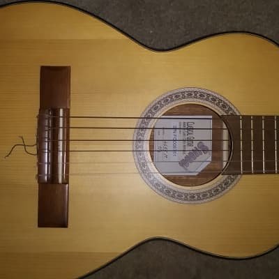 Strunal 4655M Nylon String Acoustic Guitar Made in Czech Republic 1/4 Travel for sale