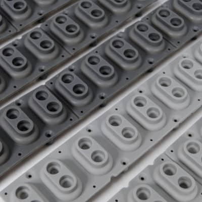 Keyboard Contact Rubber Strips w/ Carbon - 12 Pc Lot -Clean - Korg Yamaha Roland Kurzweil Fatar Nord