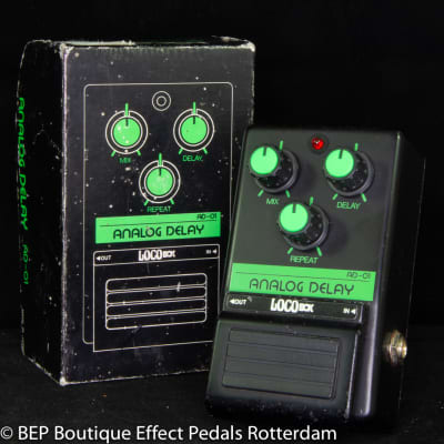 LocoBox AD-01 Analog Delay early 80's Japan with MN3005 BBD and MN3101 Clockdriver
