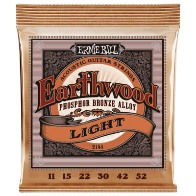 Ernie Ball Earthwood Phosphor Bronze Acoustic Guitar Strings - Light (11-52)