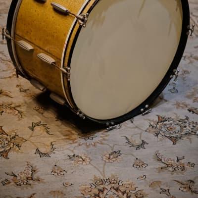 Slingerland 14x28 Gold Sparkle Radio King Bass Drum