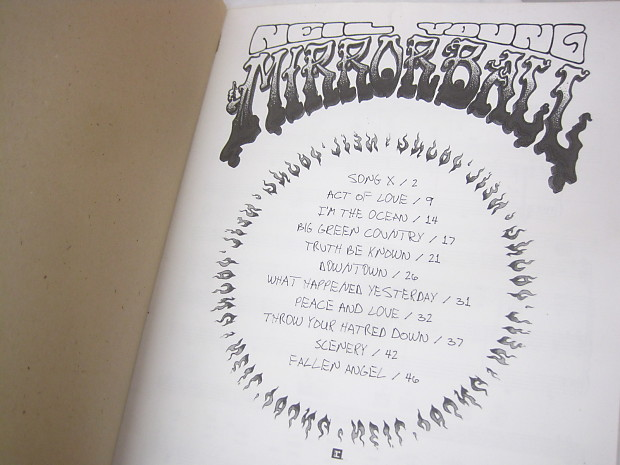 Neil Young Mirror Ball Sheet Music Song Book Songbook Piano Reverb