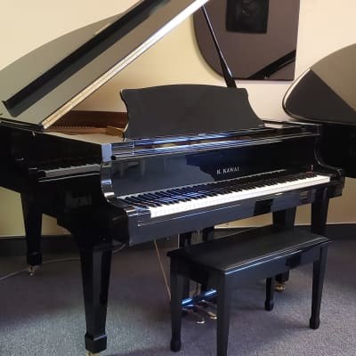 "Kawai 5'5"" RX-1 Polished Ebony Baby Grand Piano RX1 Mfg 2000 in Japan Bench Included"