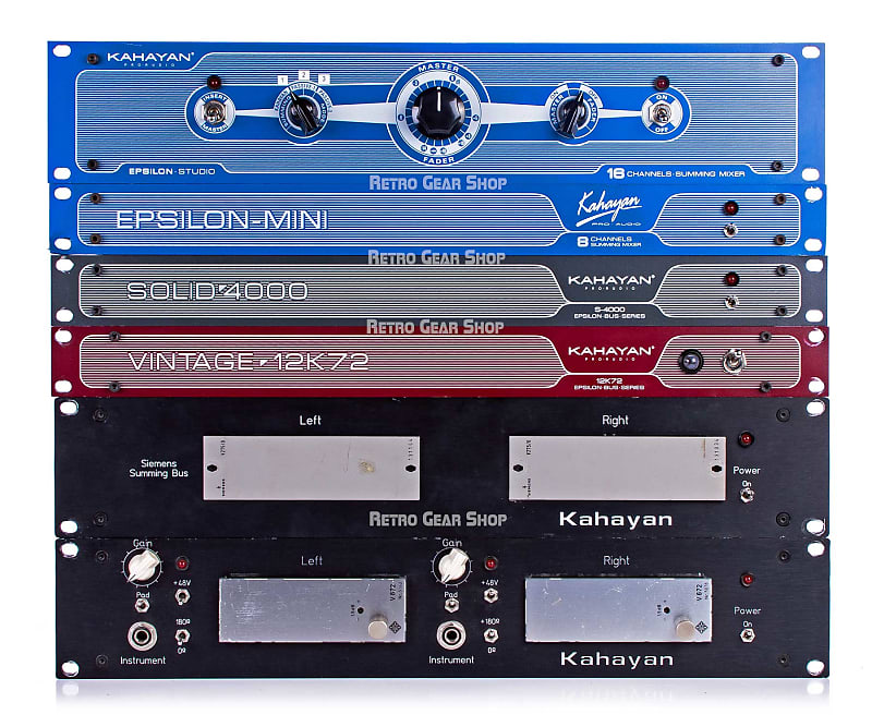 kahayan epsilon studio custom 24 channel analog summing mixer reverb. Black Bedroom Furniture Sets. Home Design Ideas