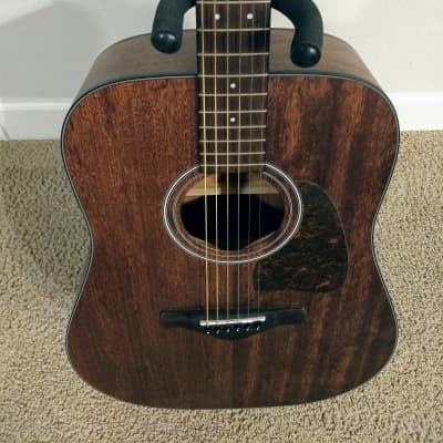 Ibanez AW54OPN Artwood Open Pore Dreadnought w/ Graphtech TUSQ nut and saddle upgrades!