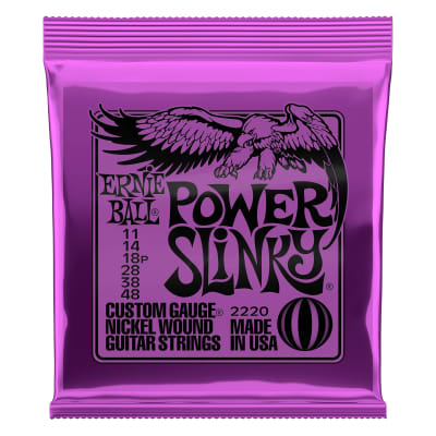 Ernie Ball Power Slinky Nickel Wound Electric Guitar Strings - 11-48 Gauge