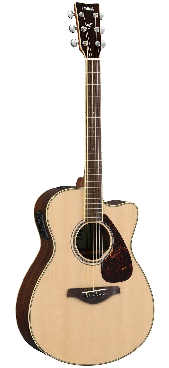 Yamaha fsx830c solid top small body acoustic electric for Yamaha solid top