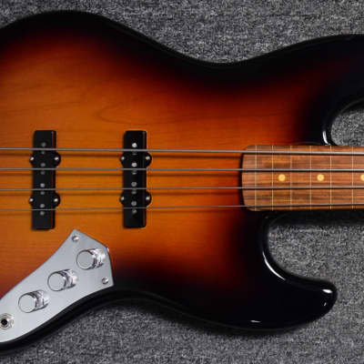 Fender Jaco Pastorius Lined/Fretless Jazz Bass, 3-Tone SB w/Cosmetic Flaws, Full Warranty = Save $! for sale