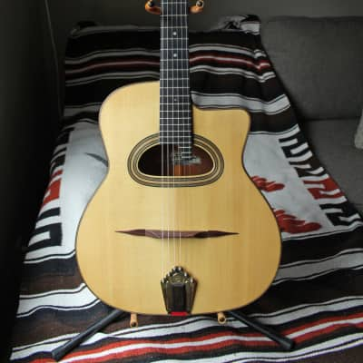 Cyrill Gaffiero Selmer Maccaferri Gypsy Jazz Style Guitar D hole #52 2015 Natural Spruce for sale