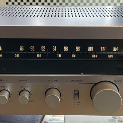Sansui R-30 Vintage AM/FM Stereo Receiver Silver Face