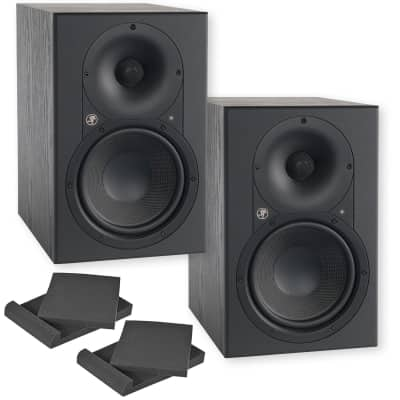 "Mackie XR624 6.5"" Two-Way Active Professional Studio Monitor - Pair with foam isolation pads"