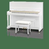 Kawai K300JSNO 122 cm upright piano polished white (K-300JSNO)