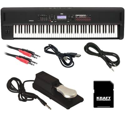 Korg Kross 2 88 Music Workstation - Matte Black CABLE KIT