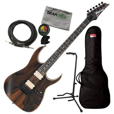 Ibanez RGEW521ZC NTF RG Standard Exotic Natural Guitar w/Bag, Tuner, Cable, Stand, Cloth for sale
