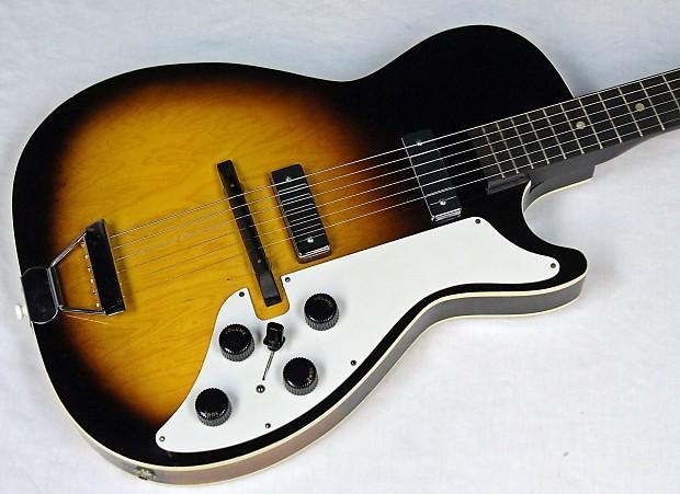 Vintage 1960 Stratotone Silvertone 1421 Electric Guitar Reverb