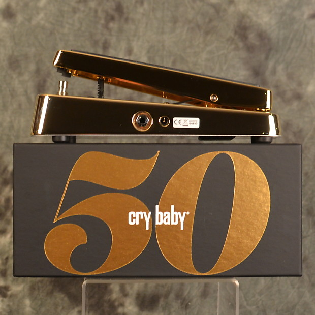 dunlop 50th anniversary gold cry baby wah w free same day reverb. Black Bedroom Furniture Sets. Home Design Ideas