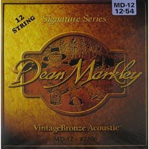 Dean Markley 2206 Vintage Bronze 12-String Acoustic Guitar Strings - Medium (12-54)