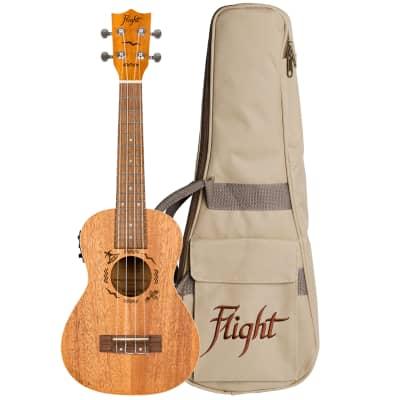 Flight Mahogany Electro-Acoustic Concert Ukulele Designer Series -Model DUC523 CEQ, DUC 523 EQ MAH