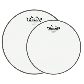Remo 12/16 Ambassador Clear Drumhead (2 Pack Bundle)