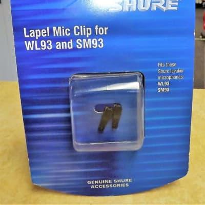 Shure RK354SB Single-Bar Tie/Lapel Clips for SM93, WL93 Mics (Pair)