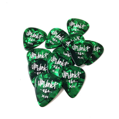 Dunlop 483P12XH Celluloid Pearloid Extra Heavy Guitar Picks (12-Pack)