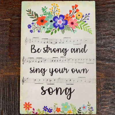 Life is Music Decor Plaque - Your own Song
