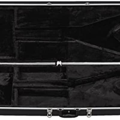 Dean ABS V V-Series Molded Case Black, New, Free Shipping