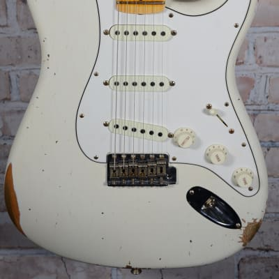 Fender 2018 '68 Relic Aged Stratocaster Olympic White for sale