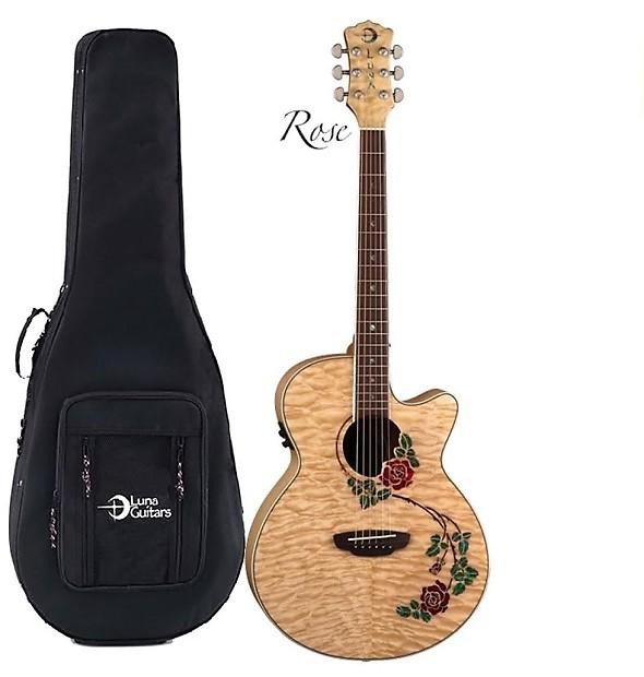 luna flo rse flora rose acoustic electric guitar case reverb. Black Bedroom Furniture Sets. Home Design Ideas