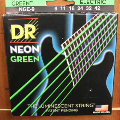 DR Strings NEON Green NGE-09 9-42 Coated Electric Guitar Strings