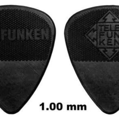 New Telefunken Elektroakustik Graphite Guitar Picks 1mm Thin Diamond (6-pack) - Black